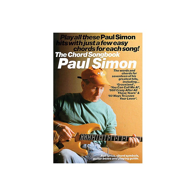 Music Sales Paul Simon - The Chord Songbook Music Sales America Series Softcover Performed by Paul Simon