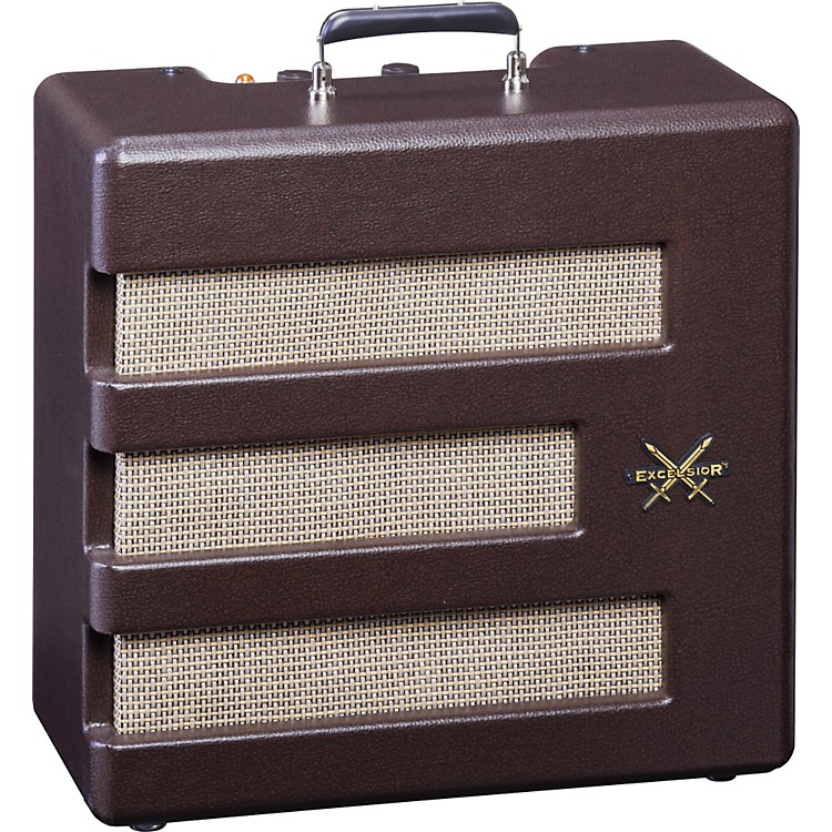 Fender Pawn Shop Special Excelsior 13W 1x15 Tube Guitar Combo Amp Brown 886830710551