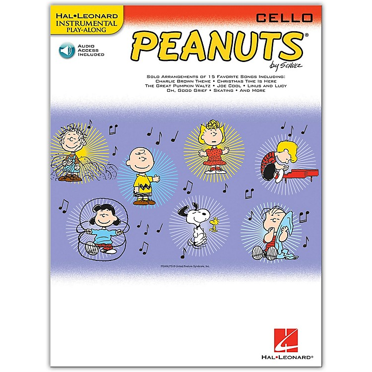 Hal Leonard Peanuts for Cello - Instrumental Play-Along Book/Online Audio