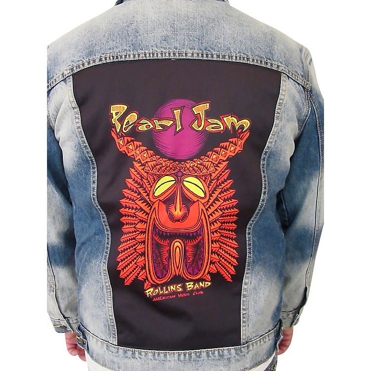 Dragonfly ClothingPearl Jam - Tiki Torch - Womens Denim JacketSmall