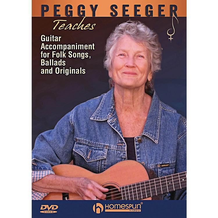 HomespunPeggy Seeger Teaches Guitar Accompaniment For Folk Songs, Ballads And Originals DVD