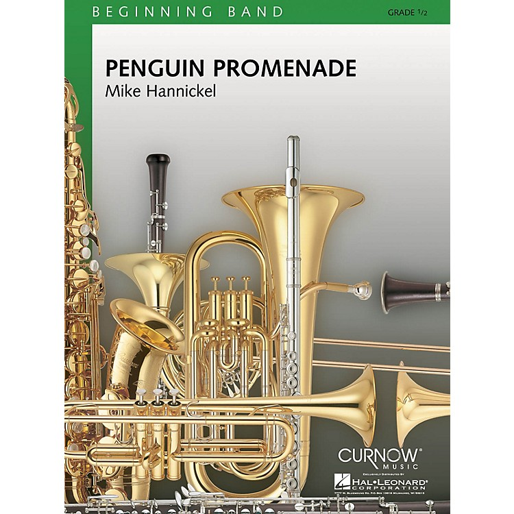 Curnow MusicPenguin Promenade (Grade 0.5 - Score Only) Concert Band Level .5 Composed by Mike Hannickel