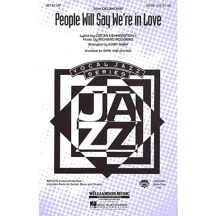 Hal Leonard People Will Say We're in Love (from Oklahoma!) SATB arranged by Kirby Shaw