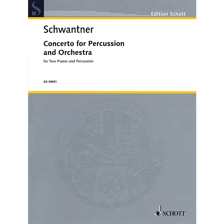 SchottPercussion Concerto No. 1 (Percussion and 2 Pianos, 4 Hands Reduction) Percussion Series