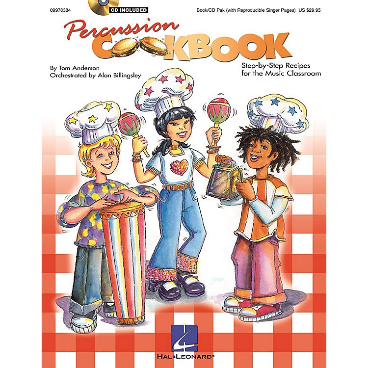 Hal LeonardPercussion Cookbook (Collection/Resource) (Book/CD Pack) Composed by Tom Anderson