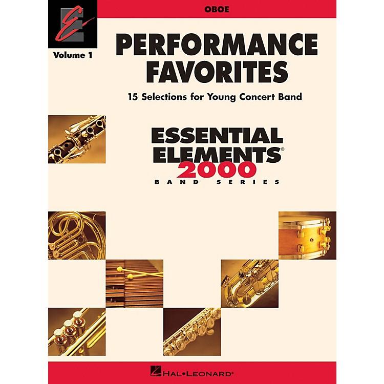 Hal LeonardPerformance Favorites, Vol. 1 - Oboe Concert Band Level 2 Composed by Various