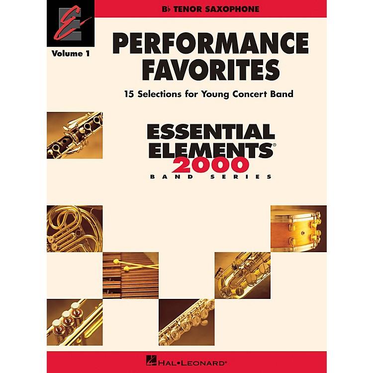 Hal LeonardPerformance Favorites, Vol. 1 - Tenor Sax Concert Band Level 2 Composed by Various
