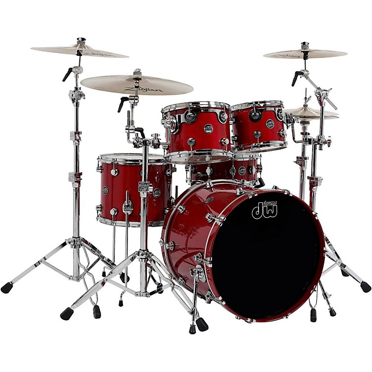 DW Performance Series 5-Piece Shell Pack Candy Apple Lacquer with Chrome Hardware