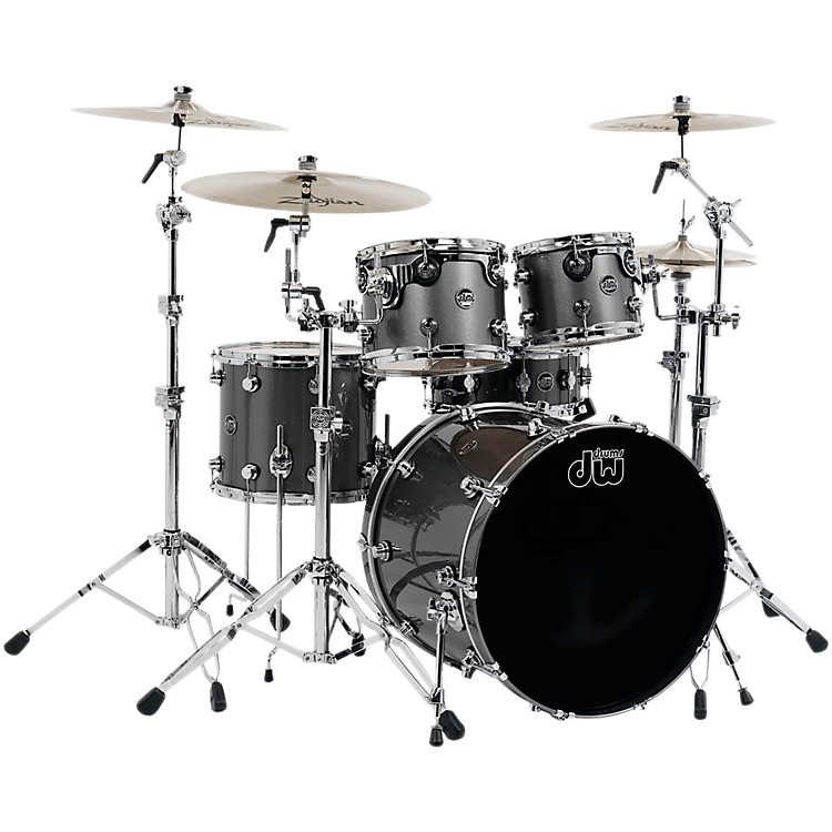 DW Performance Series 5-Piece Shell Pack with Chrome Hardware Gun Metal