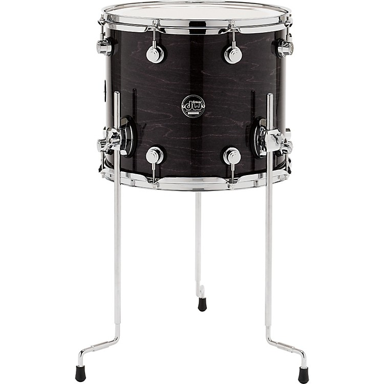 DWPerformance Series Floor Tom14 x 12 in.Ebony Stain Lacquer