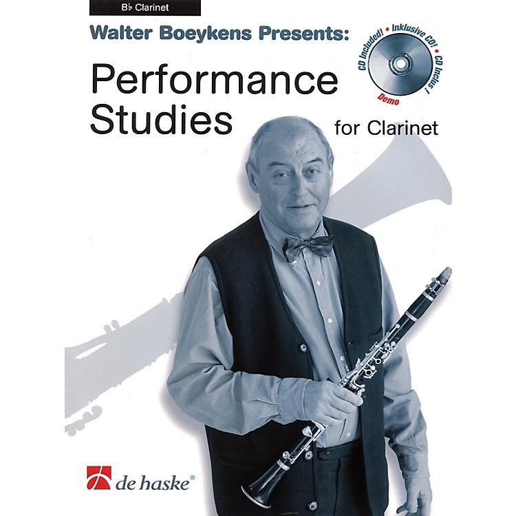 De Haske MusicPerformance Studies for Clarinet (Book/CD Pack) De Haske Solo Work CD Series Written by Walter Boeykens