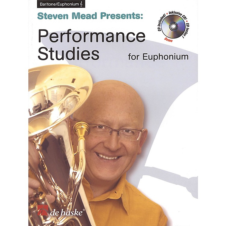 De Haske MusicPerformance Studies for Euphonium TC De Haske Play-Along Book Series Softcover with CD by Steven Mead