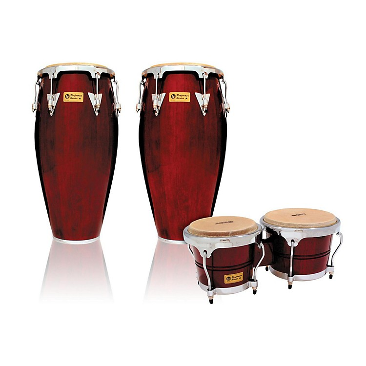 LP Performer Series 2-Piece Conga and Bongo Set with Chrome Hardware Dark Wood