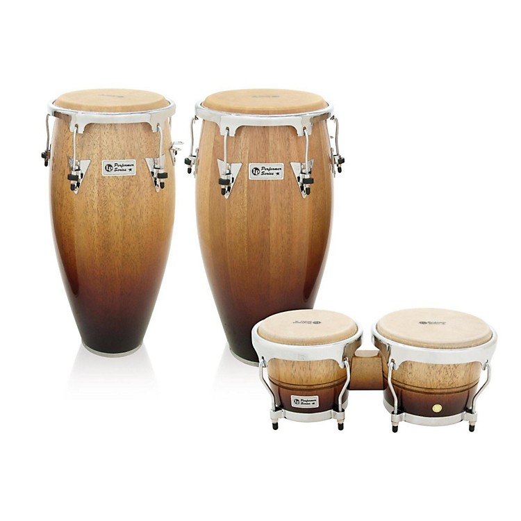 LP Performer Series 2-Piece Conga and Bongo Set with Chrome Hardware Vintage Fade