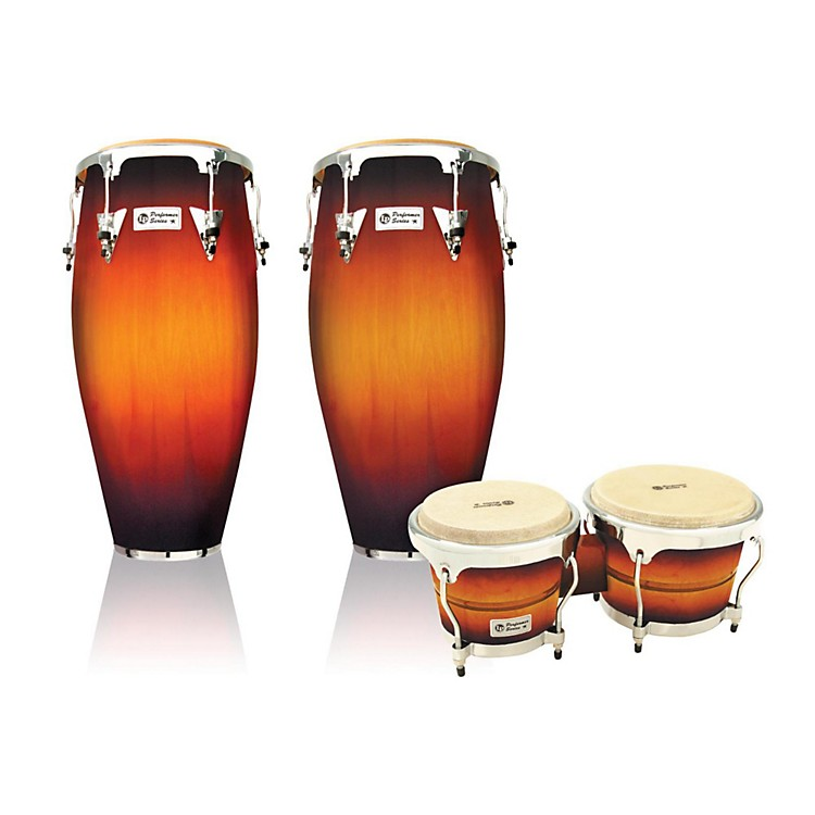 LP Performer Series 2-Piece Conga and Bongo Set with Chrome Hardware Vintage Sunburst