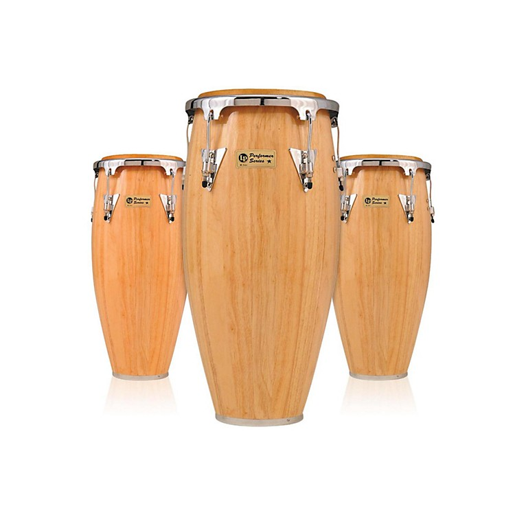 LP Performer Series 3-Piece Conga Set with Chrome Hardware Black/Natural