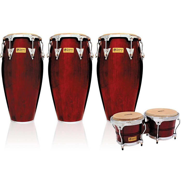LP Performer Series 3-Piece Conga and Bongo Set with Chrome Hardware Natural