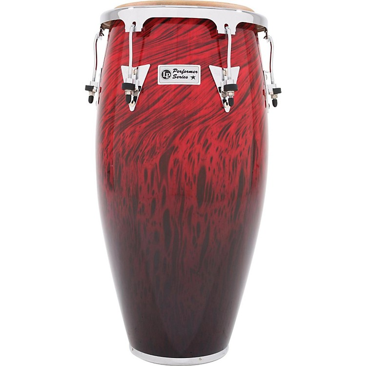 LP Performer Series Conga with Chrome Hardware 11.75 in. Red Fade