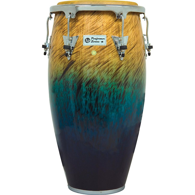 LP Performer Series Conga with Chrome Hardware 12.5 in. Tumba Blue Fade