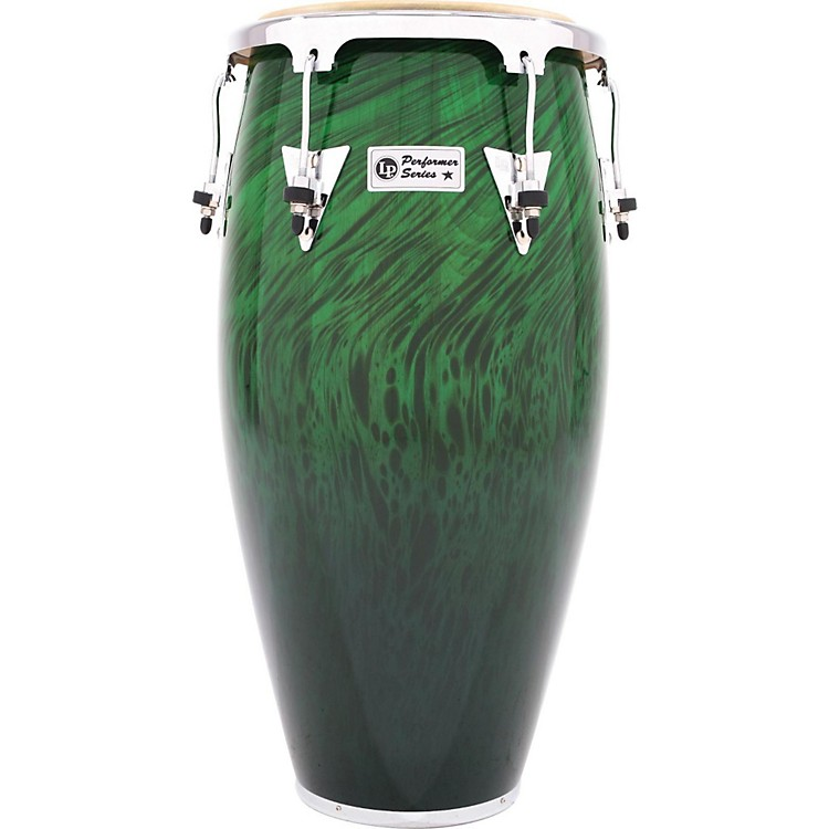 LP Performer Series Conga with Chrome Hardware 12.5 in. Tumba Green Fade