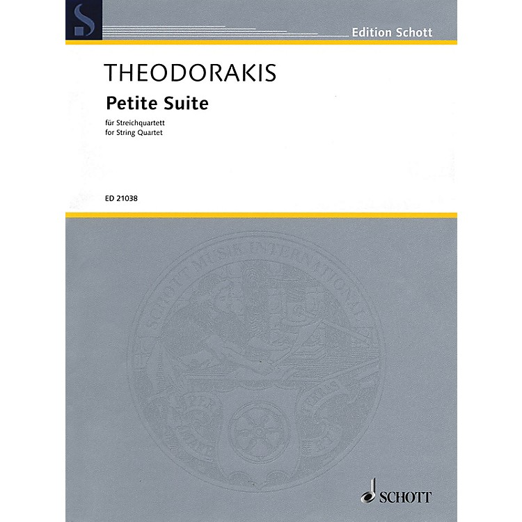 Schott Petite Suite (String Quartet Score and Parts) Schott Series Composed by Mikis Theodorakis