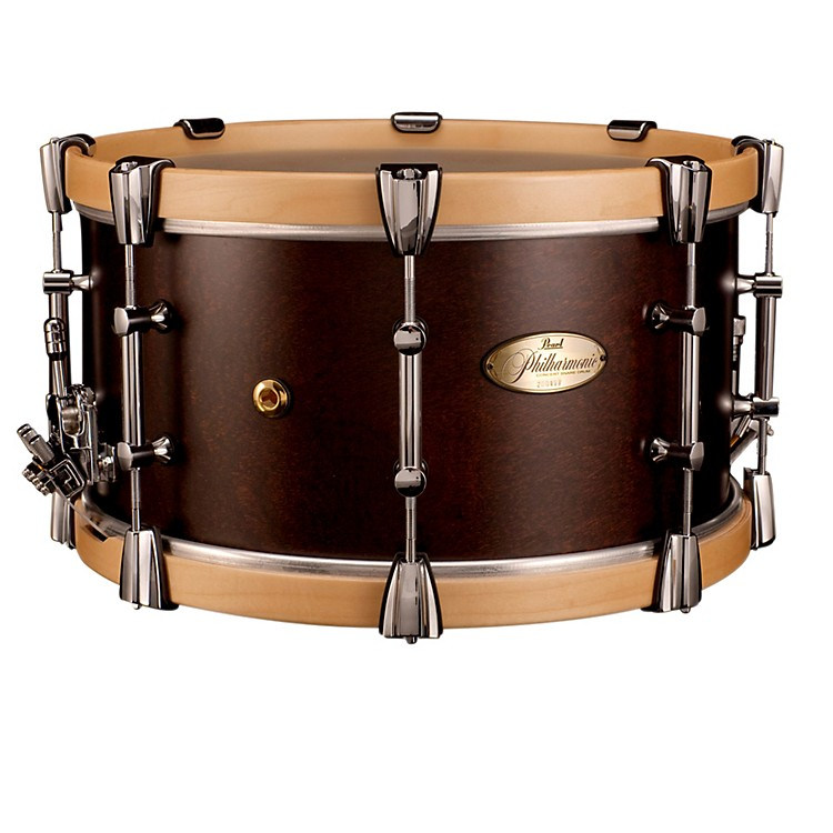 PearlPhilharmonic African Mahogany Snare w/ Maple Hoops 15x8