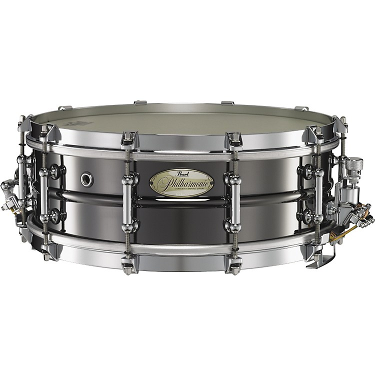Pearl Philharmonic Brass Concert Snare Drum 14 x 5 in. Black Nickel