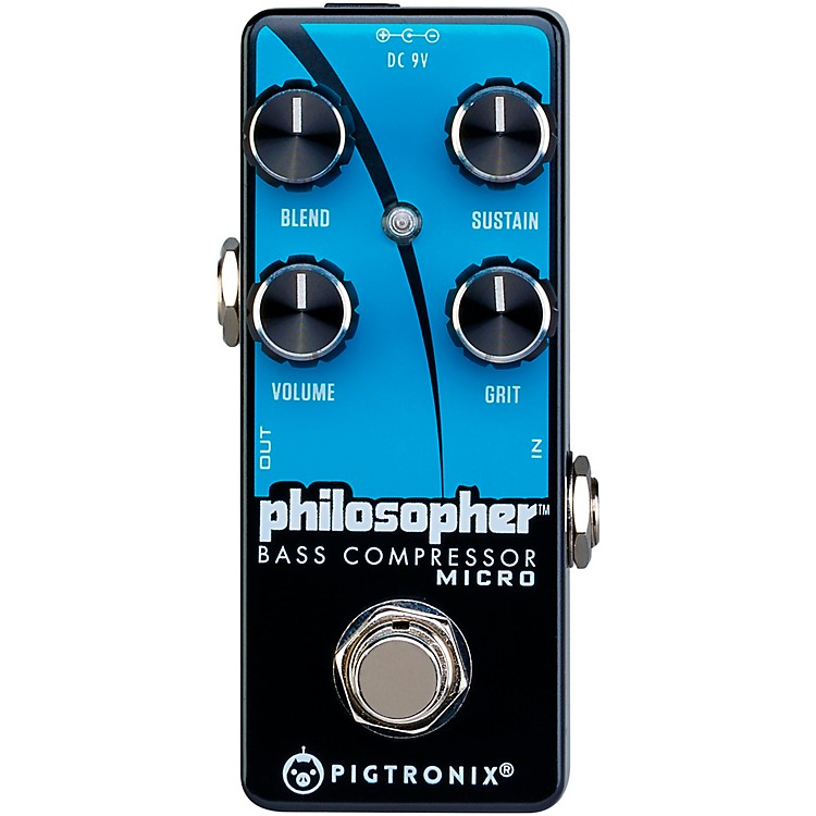 PigtronixPhilosopher Bass Compressor Micro Effects Pedal