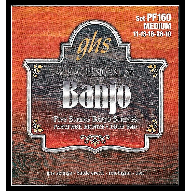 GHSPhosphor Bronze 5-String Banjo Strings Medium