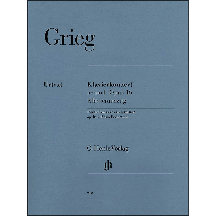G. Henle VerlagPiano Concerto A minor Op. 16 By Grieg