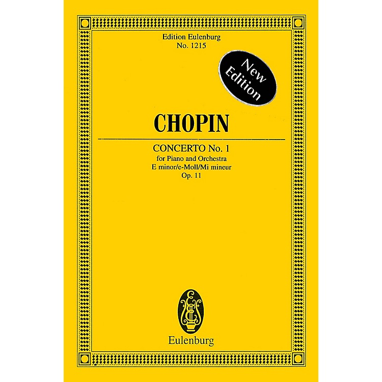 Eulenburg Piano Concerto No. 1 in E Minor, Op. 11 Schott Series Softcover Composed by Frédéric Chopin