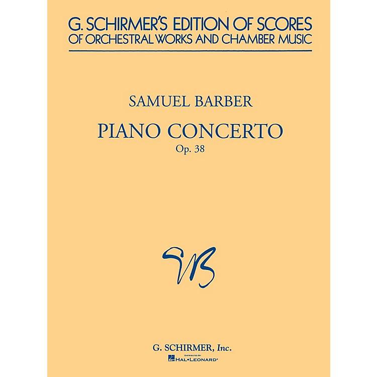 G. SchirmerPiano Concerto, Op. 38 (Study Score) Study Score Series Composed by Samuel Barber