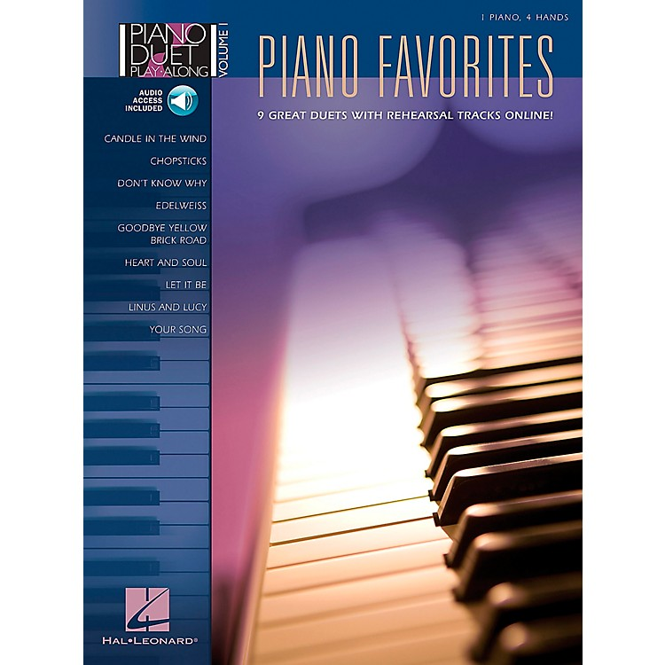 Hal Leonard Piano Favorites Volume 1 Book/CD 1 Piano 4 Hands