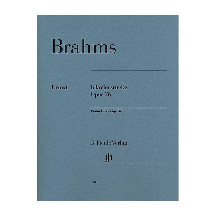 G. Henle Verlag Piano Pieces Op. 76 Nos. 1-8 Henle Music Folios Softcover by Johannes Brahms Edited by Katrin Eich
