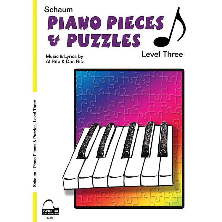 SCHAUMPiano Pieces & Puzzles (Level 3 Early Inter Level) Educational Piano Book by Al Rita