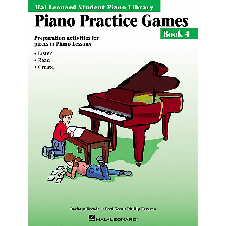 Hal LeonardPiano Practice Games Book 4 Piano Library Series Book by Barbara Kreader