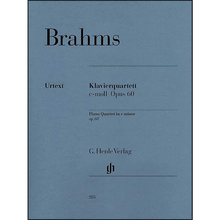 G. Henle VerlagPiano Quartet C Minor Op. 60 By Brahms