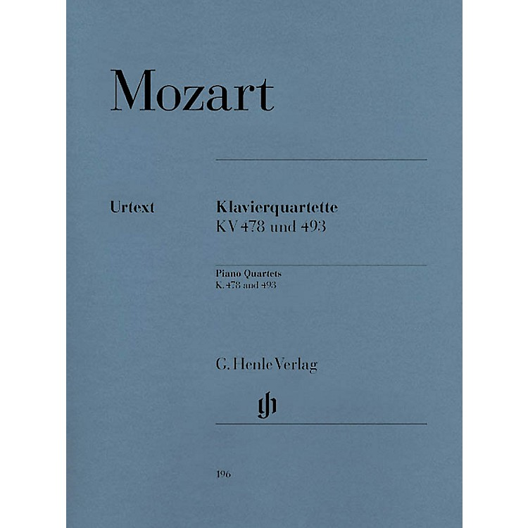 G. Henle VerlagPiano Quartets Henle Music Folios Series Softcover Composed by Wolfgang Amadeus Mozart