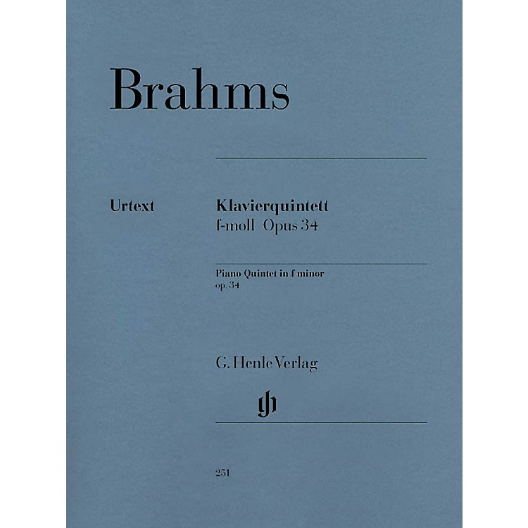 G. Henle VerlagPiano Quintet F minor Op. 34 Henle Music Folios Series Softcover Composed by Johannes Brahms