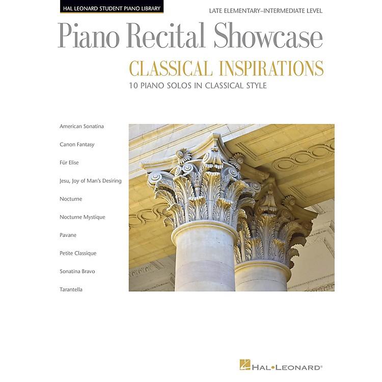 Hal LeonardPiano Recital Showcase - Classical Inspirations Hal Leonard Student Piano Library Late Elem - Int Level