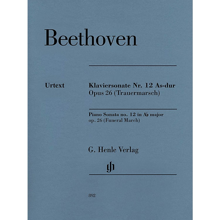 G. Henle VerlagPiano Sonata No. 12 in A-flat Major, Op. 26 (Funeral March) Henle Music Softcover by Beethoven