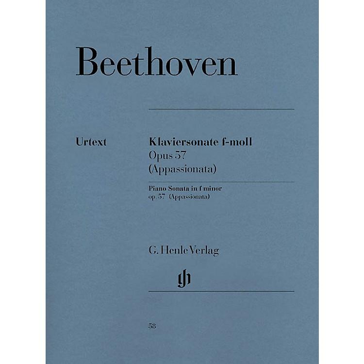 G. Henle VerlagPiano Sonata No. 23 in F Minor Op. 57 (Appassionata) Henle Music Folios Series Softcover