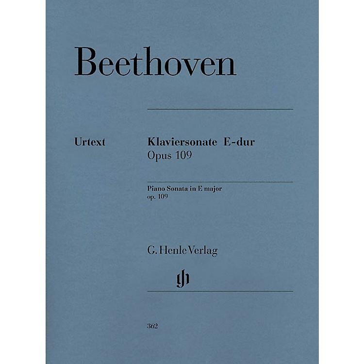 G. Henle VerlagPiano Sonata No. 30 in E Major Op. 109 Henle Music Folios Series Softcover