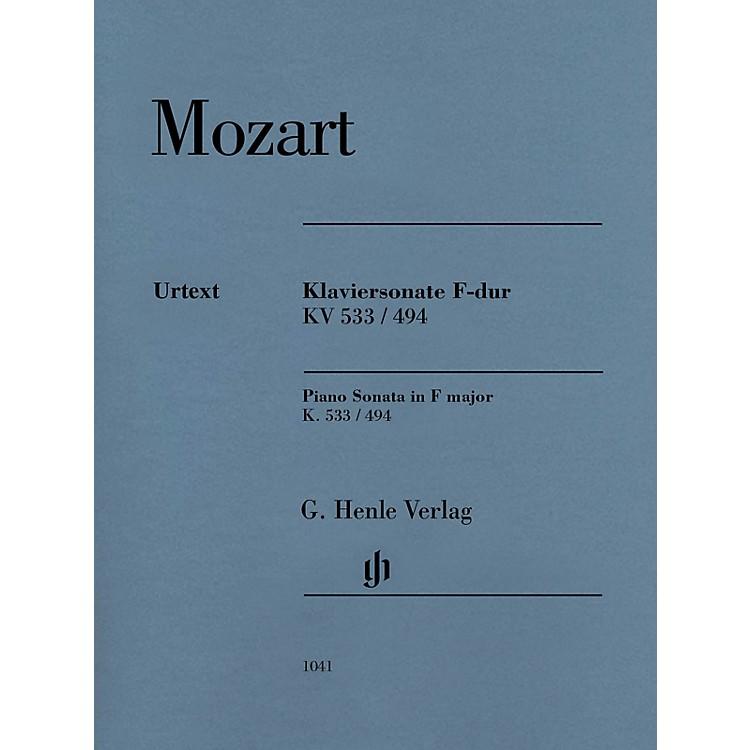 G. Henle VerlagPiano Sonata in F Major K533/494 Henle Music Folios Softcover by Mozart Edited by Ernst Herttrich