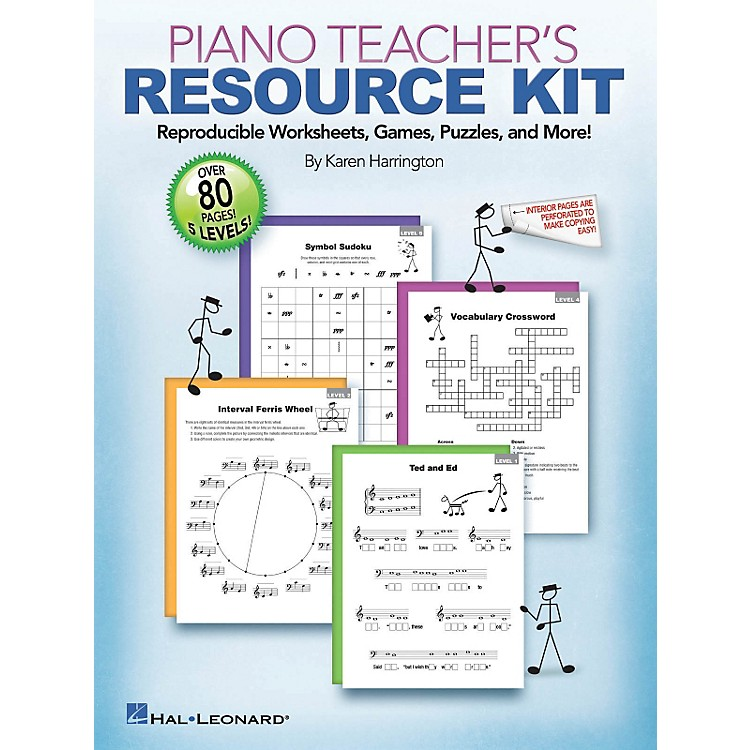 Hal LeonardPiano Teacher's Resource Kit  -Reproducible Worksheets Games Puzzles And More