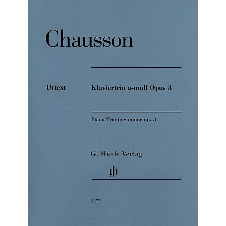 G. Henle VerlagPiano Trio in G minor, Op. 3 Henle Music Folios Series Softcover Composed by Ernest Chausson