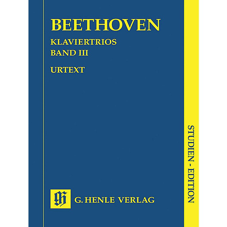 G. Henle VerlagPiano Trios - Volume III (Study Score) Henle Study Scores Series Softcover by Ludwig van Beethoven