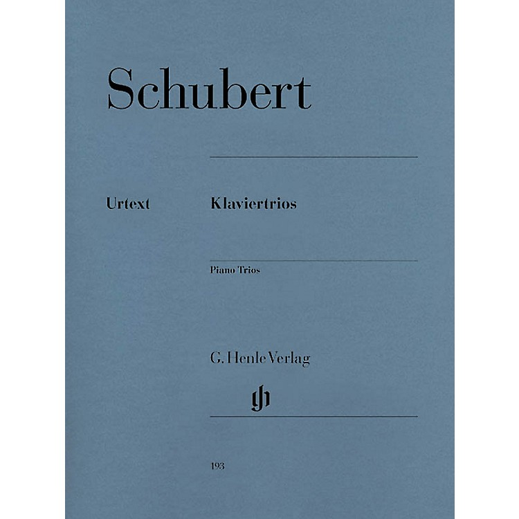 G. Henle Verlag Piano Trios Henle Music Folios Series Softcover Composed by Franz Schubert