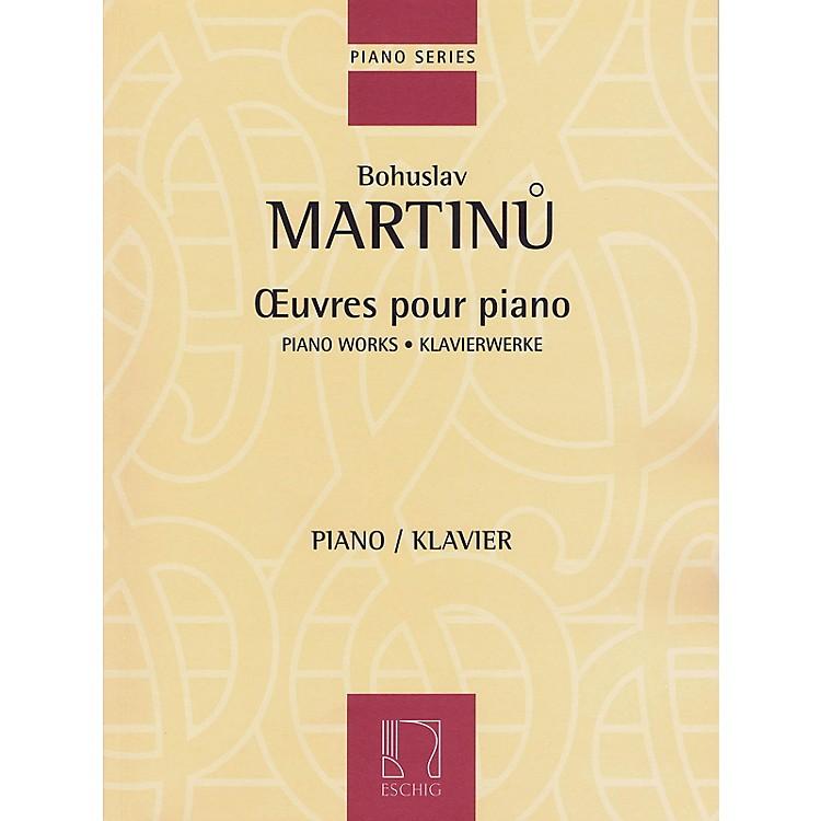 Max EschigPiano Works Editions Durand Series Softcover Composed by Bohuslav Martinu