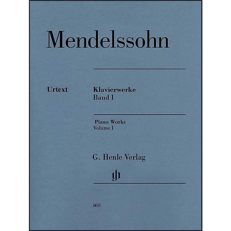 G. Henle VerlagPiano Works Volume I By Mendelssohn